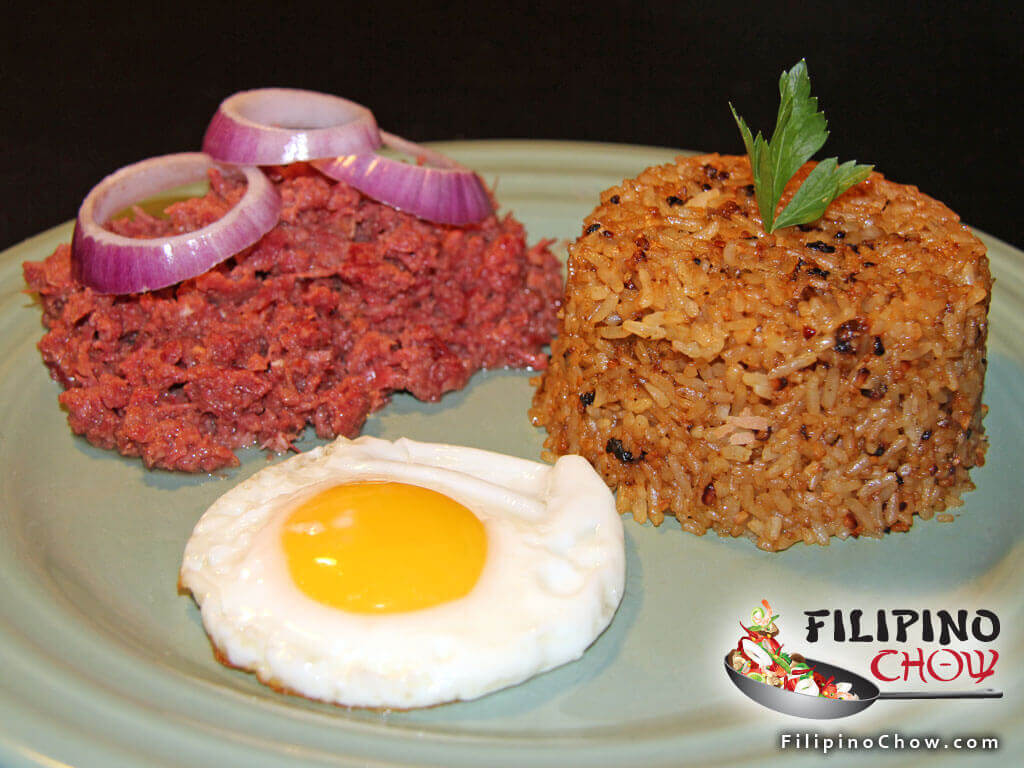 Cornsilog Corned Beef with Garlic Rice and Fried Egg