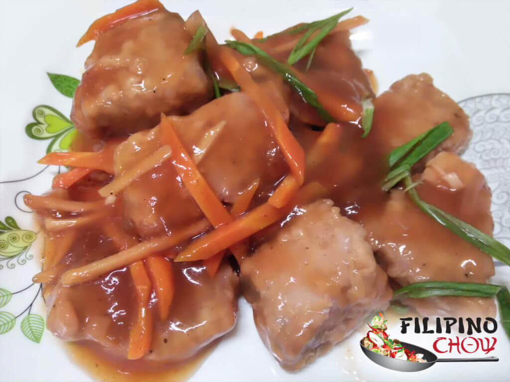 Sweet and Sour Tuna (Escabecheng Isda)