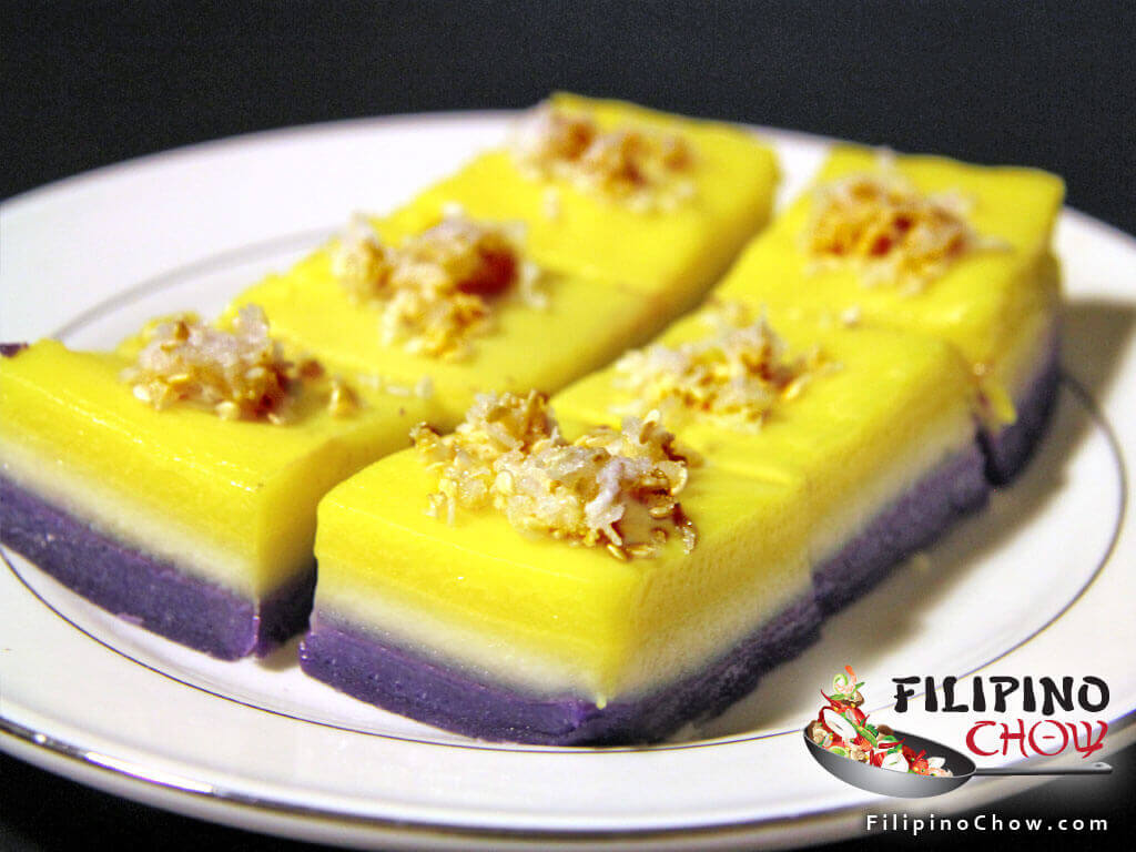 Sapin Sapin (Steamed Coconut Layer Pudding)