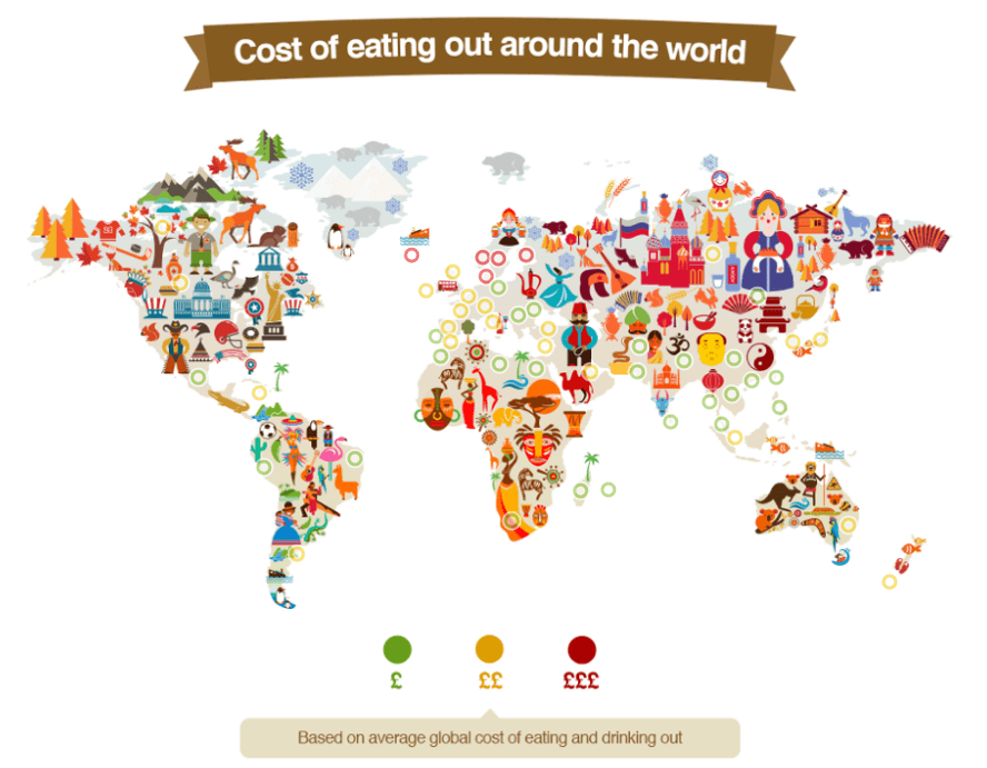 Explore the Cost of Eating Out Around the World In This Interactive Map